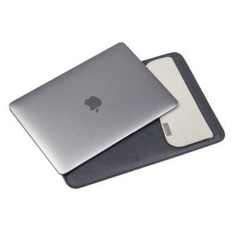 【moshi】Muse MacBook 12吋 鈦黑 輕薄防傾倒皮革內袋