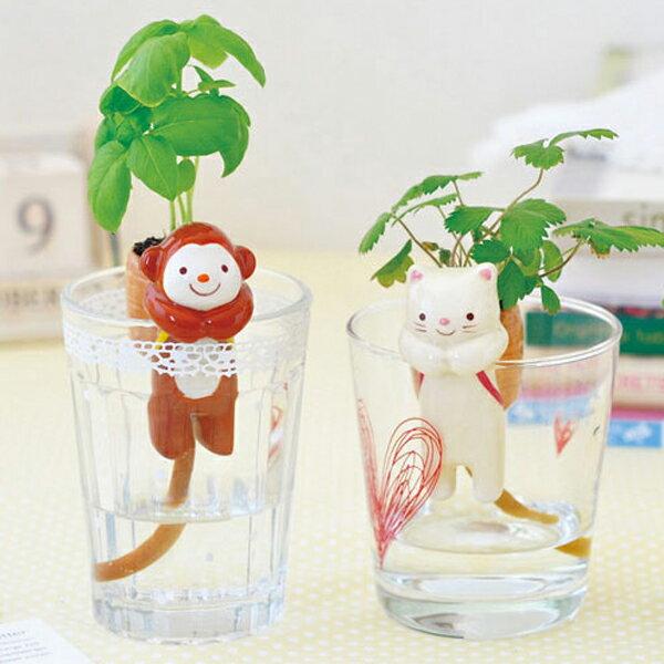 PS Mall 療癒熱賣!!可愛動物尾巴吸水造型盆栽 桌面迷你綠植物 小盆栽【J604】