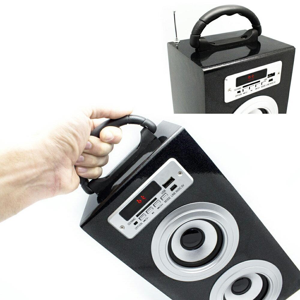ALTAVOZ PORTÁTIL CON ASA AZUL TORRE CAJA SUBWOOFER CON MANDO, BLUETOOTH, USB, SD, RADIO Y AUX PARA MP3, MP4, SMARTPHONE, TABLET... 2