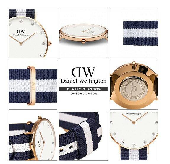 瑞典正品代購 Daniel Wellington 0953DW  玫瑰金 尼龍 帆布錶帶 女錶手錶腕錶 26MM 3