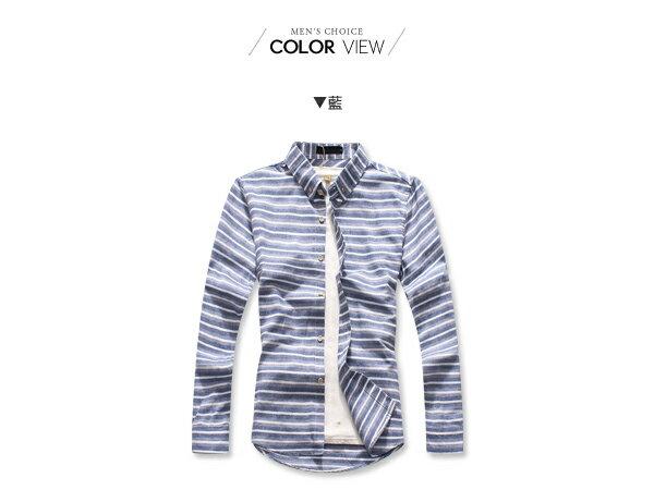 ☆BOY-2☆【NQ97014】韓版紳士條紋長袖襯衫 2