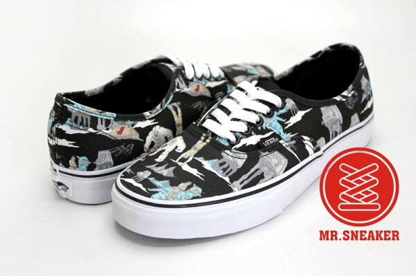 ☆Mr.Sneaker☆ VANS X STAR WARS Authentic 經典 復古 休閒 滑板鞋 彩色 滿版 印花 男女款 黑彩