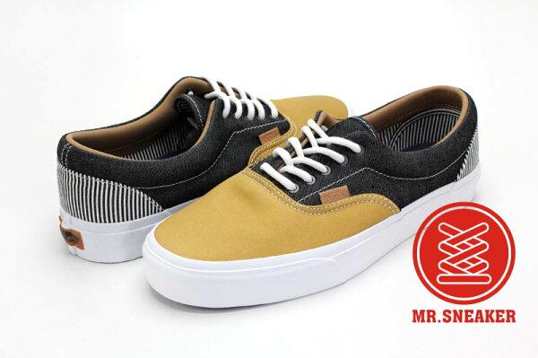 ☆Mr.Sneaker☆ VANS Era CA 經典 休閒/滑板鞋 Twill 別注/特別款 California 高端支線 拼接 極細線條 丹寧黑/咖啡 褐