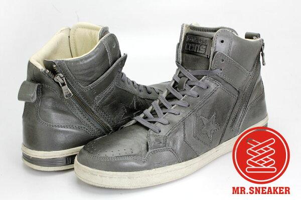 Mr.Sneaker  CONVERSE John Varvatos JV Weapon HI 高筒 復古 皮革 仿舊 刷舊 拉鏈 破壞 AJ 公牛 芝加哥 灰色 深灰 鐵灰