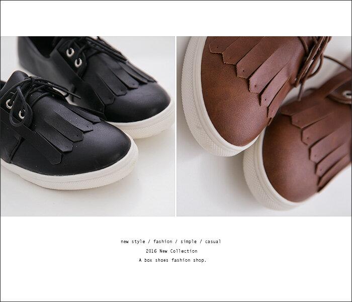 格子舖*【AA655】 MIT台灣製 時尚流行超值新款 綁帶皮革流蘇紳士鞋 小白鞋 圓頭包鞋 3色 1