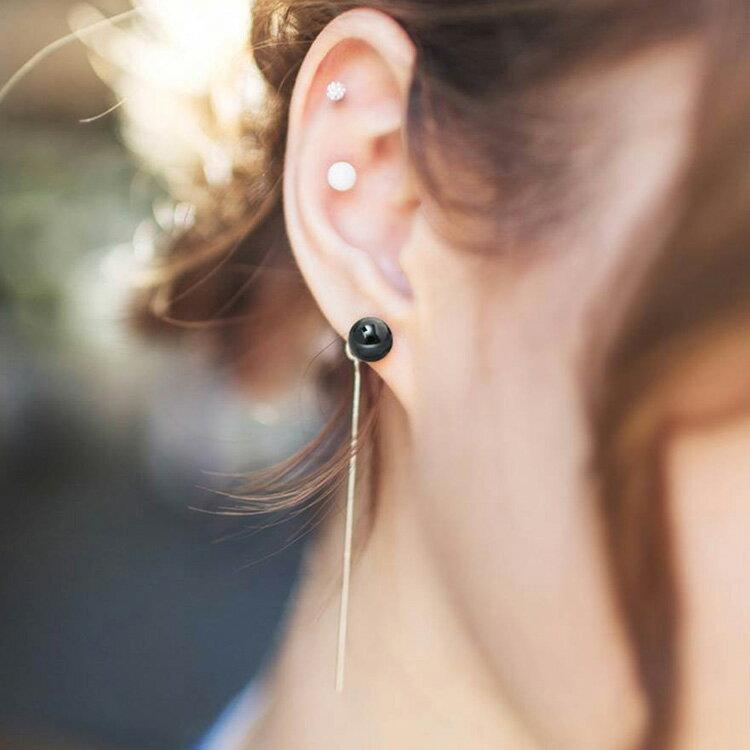 耳環 個性線條流蘇簡約長款耳環【TSEW875】 BOBI  07/07 2