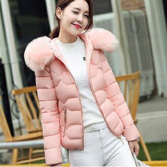 毛領加厚保暖羽絨外套(5色)