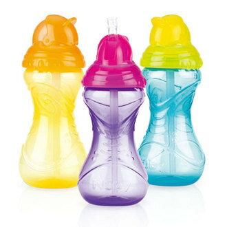 『121婦嬰用品館』Nuby 卡拉防漏彈跳杯360ml 黃/藍/紫 (12m+) - 限時優惠好康折扣