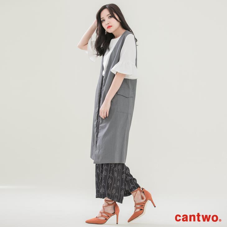 cantwo長版西裝背心(共二色) 2