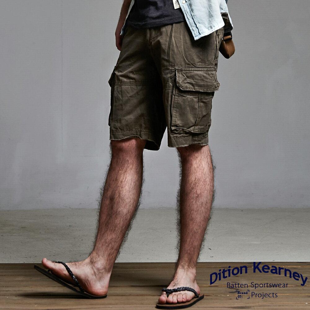 DITION  立體感多口袋 outer美式水洗工作短褲 3