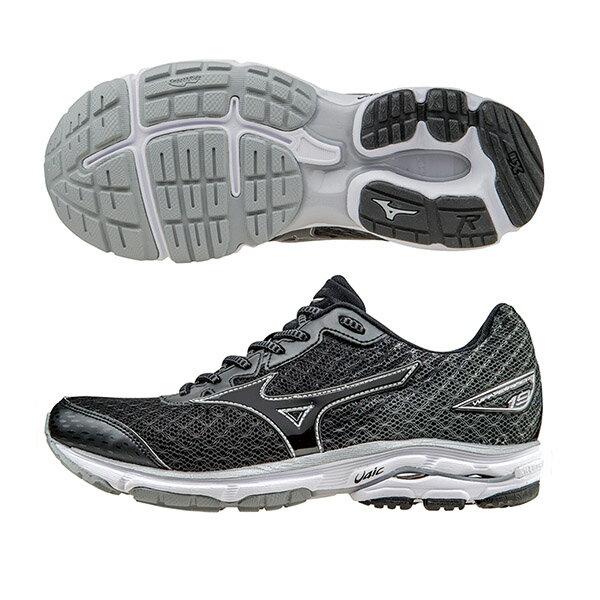 慢跑鞋的代名詞 WAVE RIDER 19(W)  女慢跑鞋 J1GD160309(黑X黑X灰)S【美津濃MIZUNO】