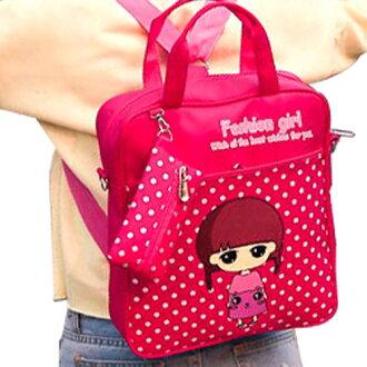 後背包-學生三用包 卡通可愛印花包 手提包 斜背包 雙肩包 包飾衣院 P1596 現貨+預購