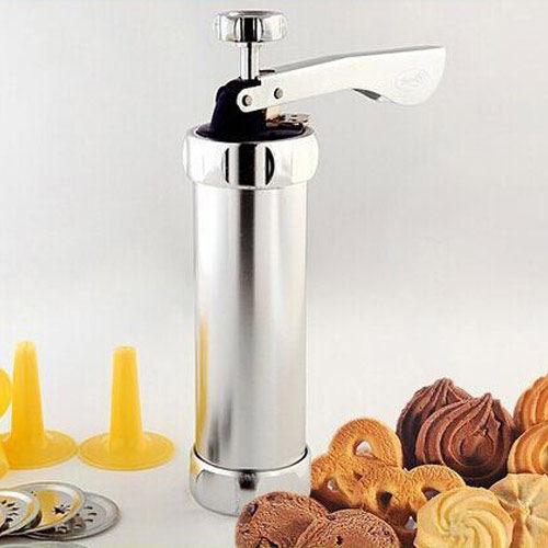 PS Mall 第二代鋁合金筒身20片花餅乾機 曲奇餅乾擠壓機裱花嘴筒 模具【J500】