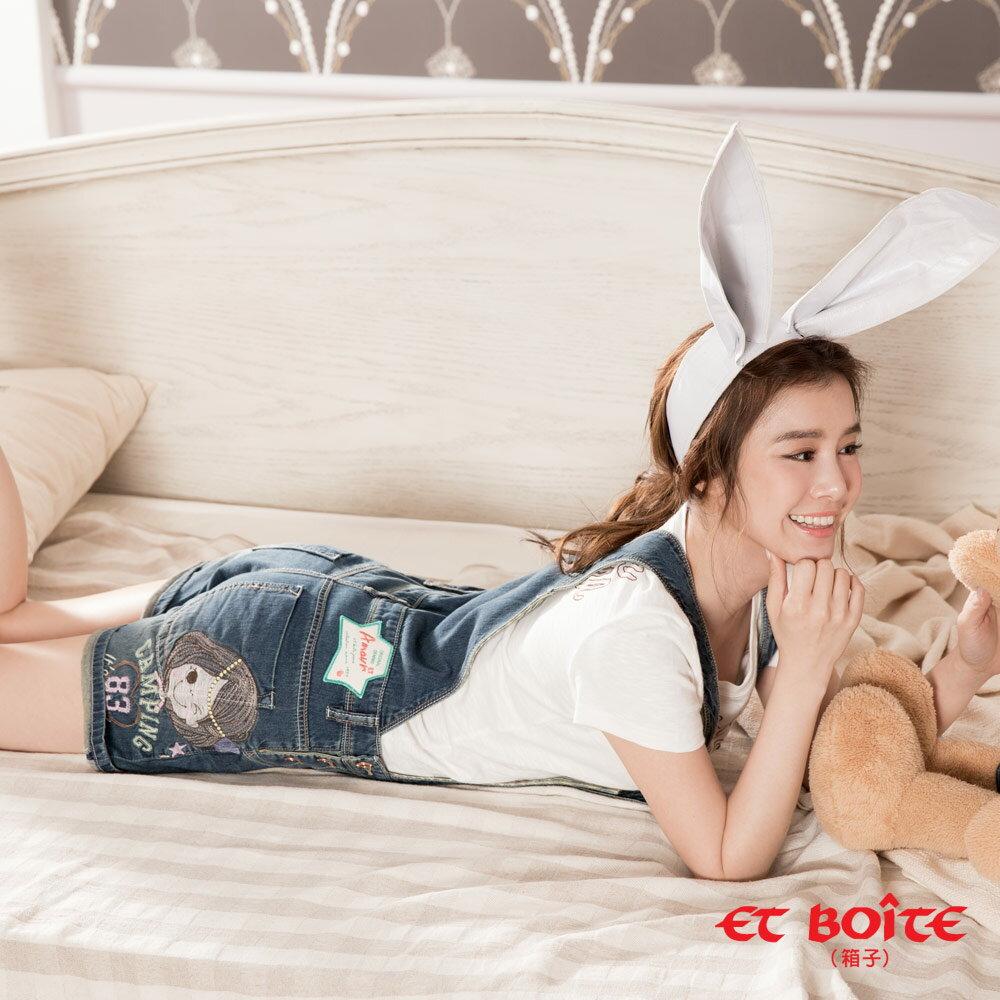 ET BOiTE 箱子  ET Amour 數字娃娃吊帶短褲 - 【單筆滿888結帳輸入 SS_20161209→再折100元】 0
