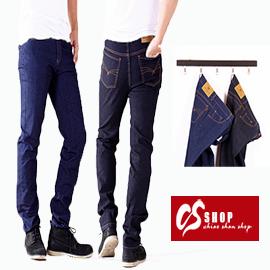 CS衣舖 同EDWIN版型 原色單寧 彈力修身 小直筒牛仔褲 jg704748