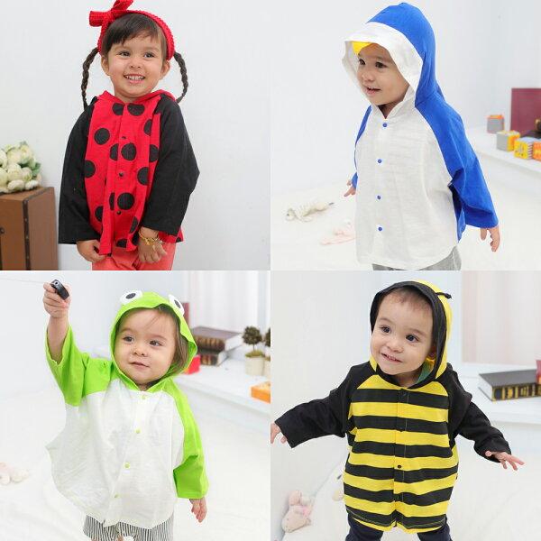 Augelute Baby 動物造型連帽披風薄外套 60105