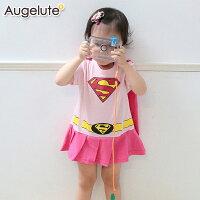 蝙蝠俠與超人周邊商品推薦Augelute Baby 女超人造型披風包屁裙 32001