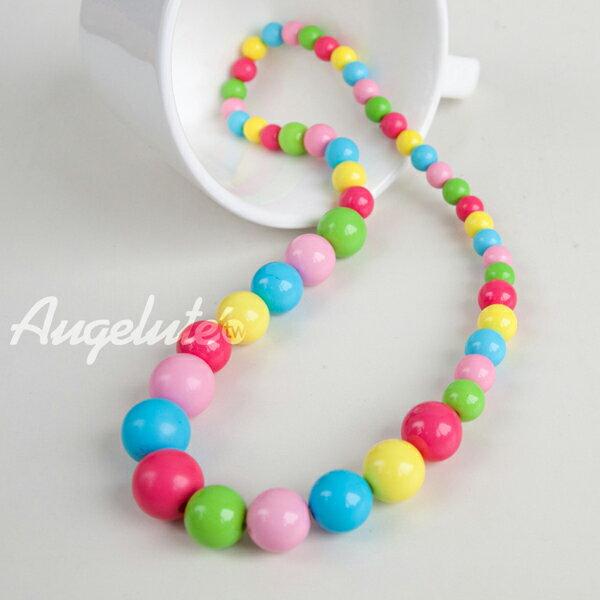 糖果色七彩兒童項鍊 F1020