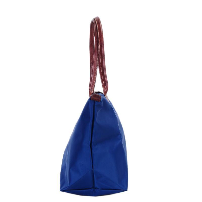 [1899-M號] 國外Outlet代購正品 法國巴黎 Longchamp 長柄 購物袋防水尼龍手提肩背水餃包 藍色 3