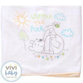 ViViBaby - Disney迪士尼小熊維尼雙面大浴巾 (毛巾+紗布) 0