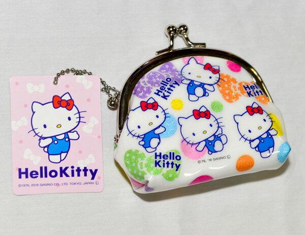 Hello Kitty 閃亮bling 珠扣 口金 零錢包 日本正版商品