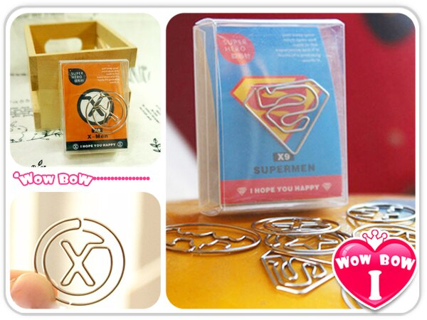 ♥愛挖寶♥【SQ02KT-1628】可愛文具 英雄聯盟 創意盒裝迴紋針/書籤/學生禮品