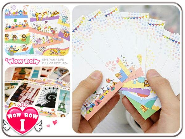 ♥愛挖寶♥【STK-04】POP color*拍立得相片框貼(馬戲團篇) / 相片裝飾貼 10張入