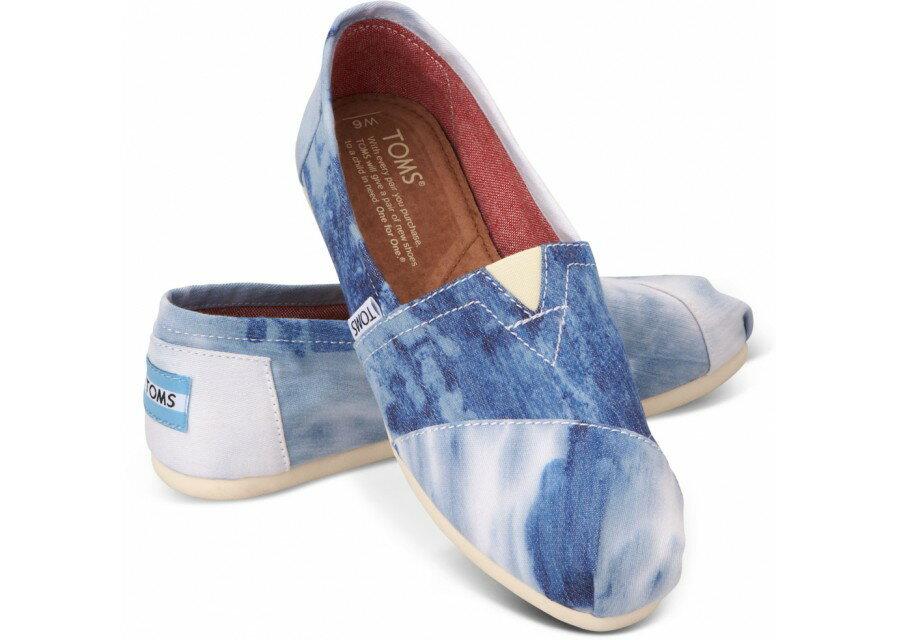 [女款] 國外代購TOMS 帆布鞋/懶人鞋/休閒鞋/至尊鞋 帆布系列 水洗染布藍 0