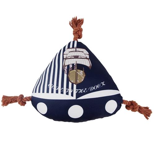 【小樂寵】海洋帆船帆布咬繩發聲玩具