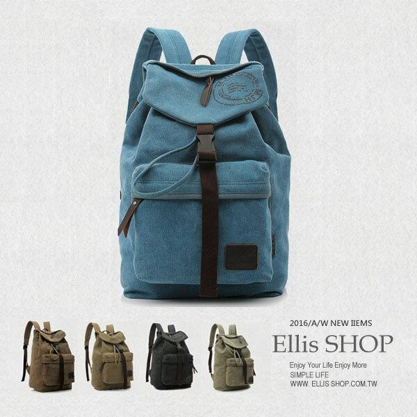 ~ELLIS Shop 艾里斯~ 雙肩後背包 文清大學生 書包 旅行包 男女 潮流包~BA
