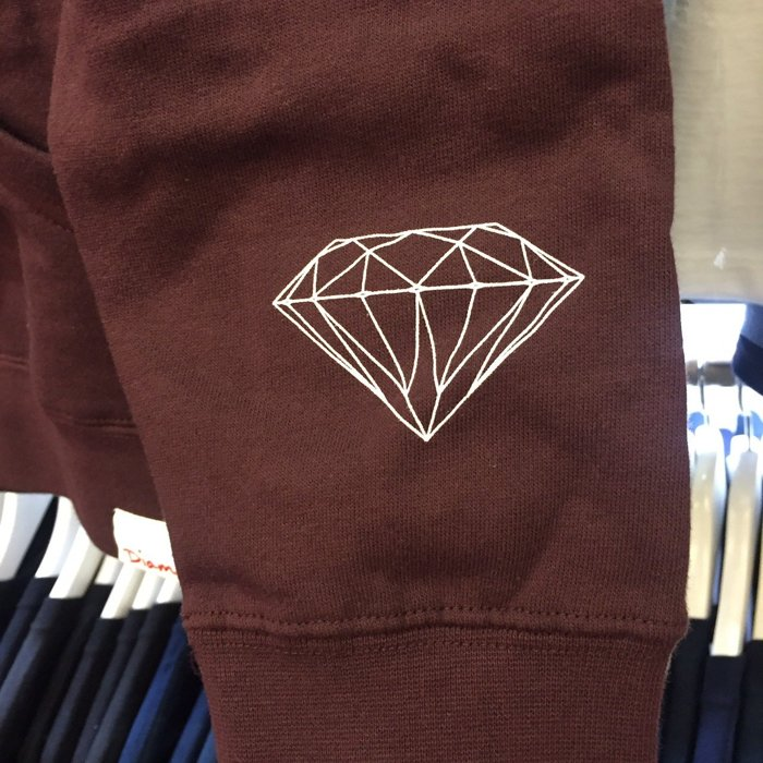 BEETLE PLUS 西門町 全新 DIAMOND SUPPLY CO BOX LOGO 民族風 酒紅 帽T D14DPF07BUR DA-34 1