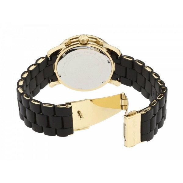 美國Outlet正品代購 MichaelKors MK 黑色橡膠 三環 運動風手錶腕錶 MK5191 4