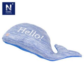 接觸涼感 鯨魚造型迷你枕 N-COOL WHALE16
