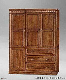 【尚品傢俱】702-11 樟木半實木5x7尺衣櫃 收納櫃~另有3.5尺2.8尺