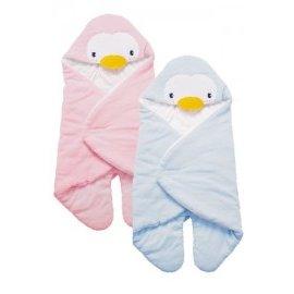 PUKU藍色企鵝 - 造型包巾 (水藍/粉紅) 0