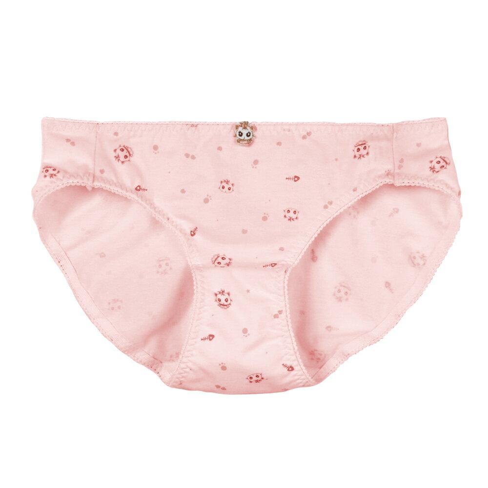 【夢蒂兒】俏皮貓咪。少女三角褲(粉) 1
