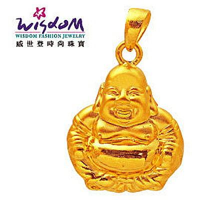 3D硬黃金立體千足金 彌勒福墜 0.85錢 手鍊 項鍊 推薦禮物 特價優惠款