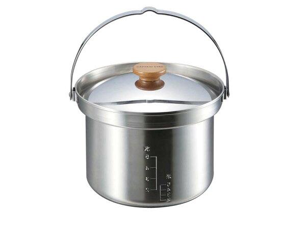 【露營趣】中和 Captain Stag 鹿牌 UH-4001 合金3層鋼米鍋 不鏽鋼三層鍋 湯鍋 麵鍋 煮飯鍋 煮米鍋