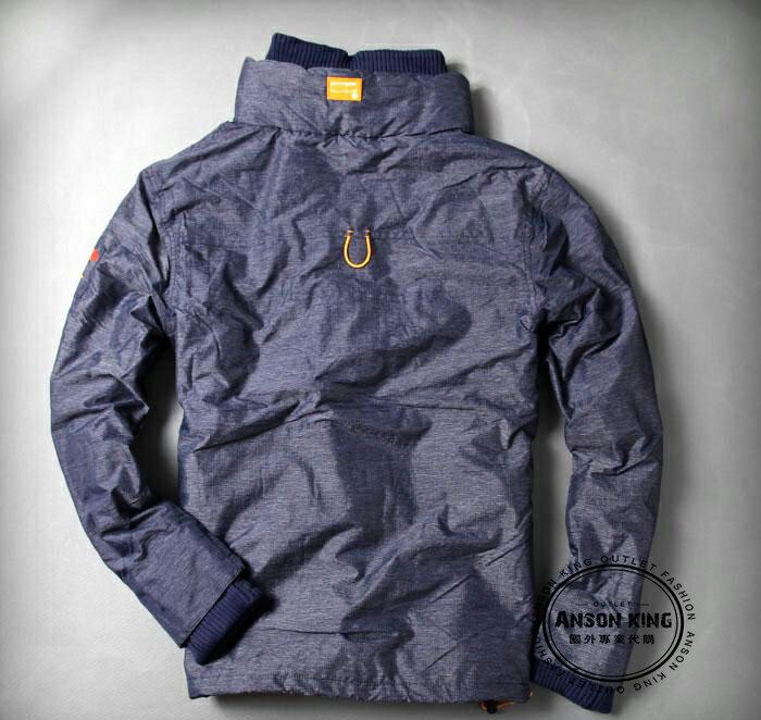 [男款] 英國名品 代購 極度乾燥 Superdry Polar Wind Attacke 男士防水防風戶外休閒外套夾克 深藍/黃 1