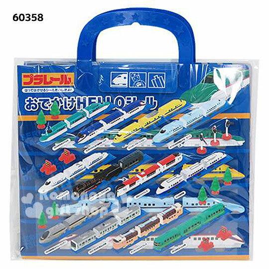 〔小禮堂〕TOMICA 泡棉貼紙遊戲書《藍.新幹線.都市地圖》附提把