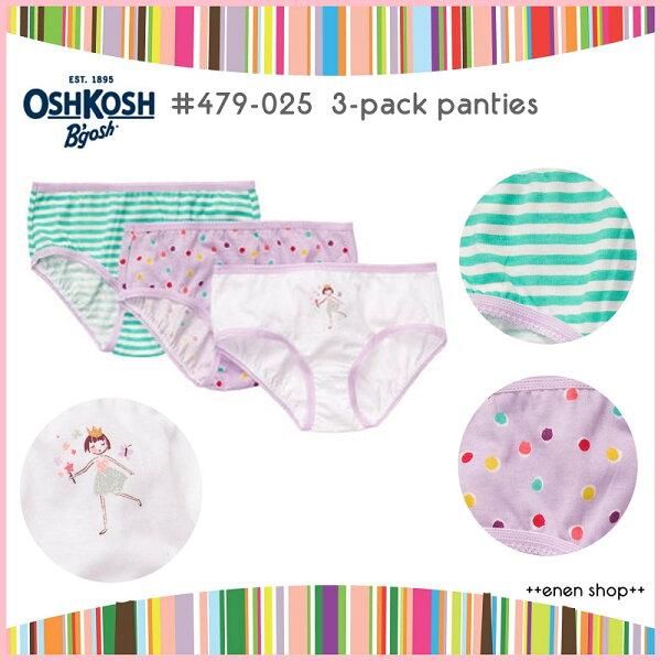 Enen Shop @OshKosh B'gosh 小女孩/圓點/條紋俏皮內褲三件組 ∥ 2T/4T