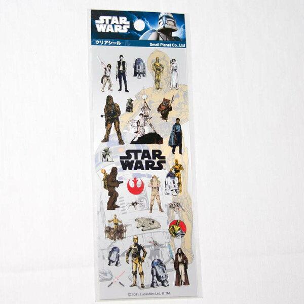 星際大戰 STAR WARS 透明PVC貼紙 日本製 正版品