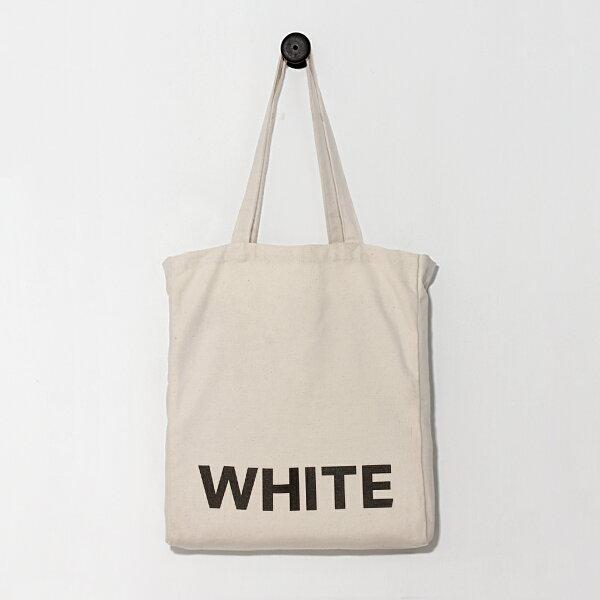 [黑色的白] 環保袋/帆布袋/購物袋/托特包/肩背/Eco包/日用袋/1day1bag