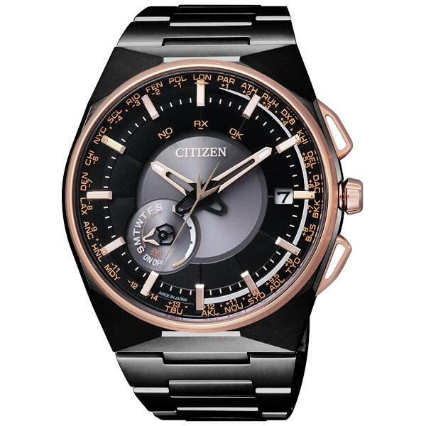 CITIZEN星辰CC2004-59E限量質感黑形象光動能衛星腕錶/黑面45mm