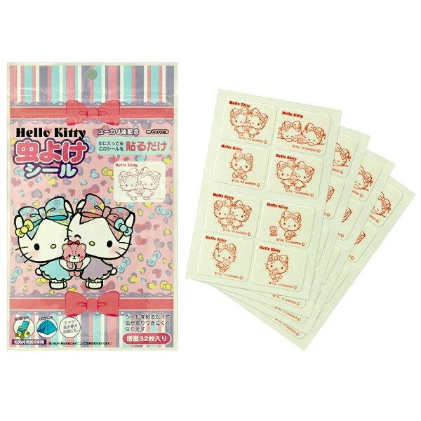 Hello Kitty 防蚊貼片 32枚一包 不接觸皮膚 天然尤加利精油 日本製造