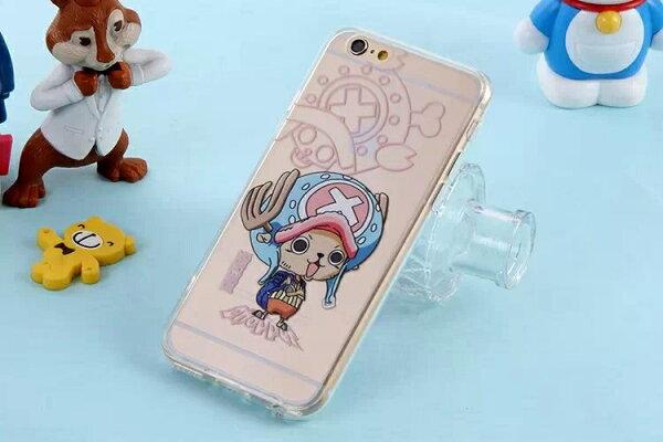 【賣萌3C】三星Galaxy Note4 Note3  iphone5/5s/6/6plus透明海賊王魯夫喬巴手機殼保護套