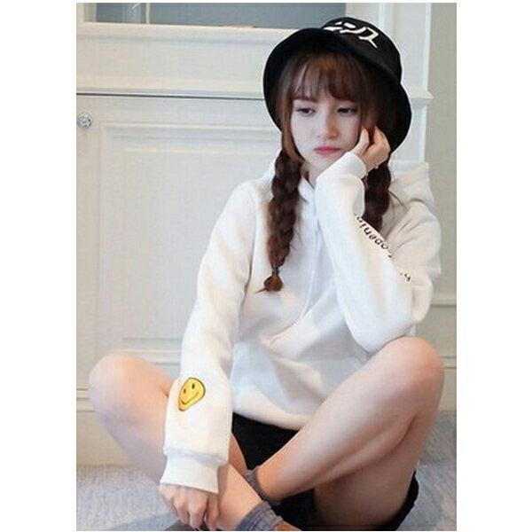 ◆快速出貨◆刷毛T恤 連帽刷毛 情侶T恤 暖暖刷毛 MIT台灣製.連帽-帽子微笑【YS0426】可單買.艾咪E舖 3