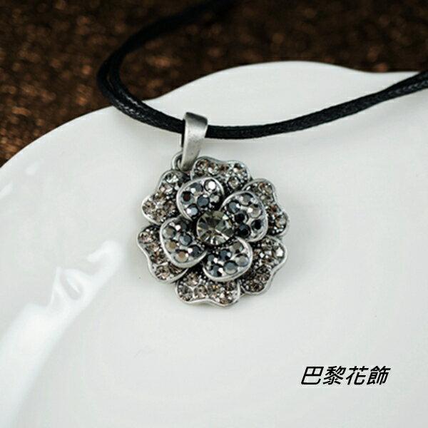 山茶之戀 復古風情水晶項鍊~巴黎花飾~ ~  好康折扣