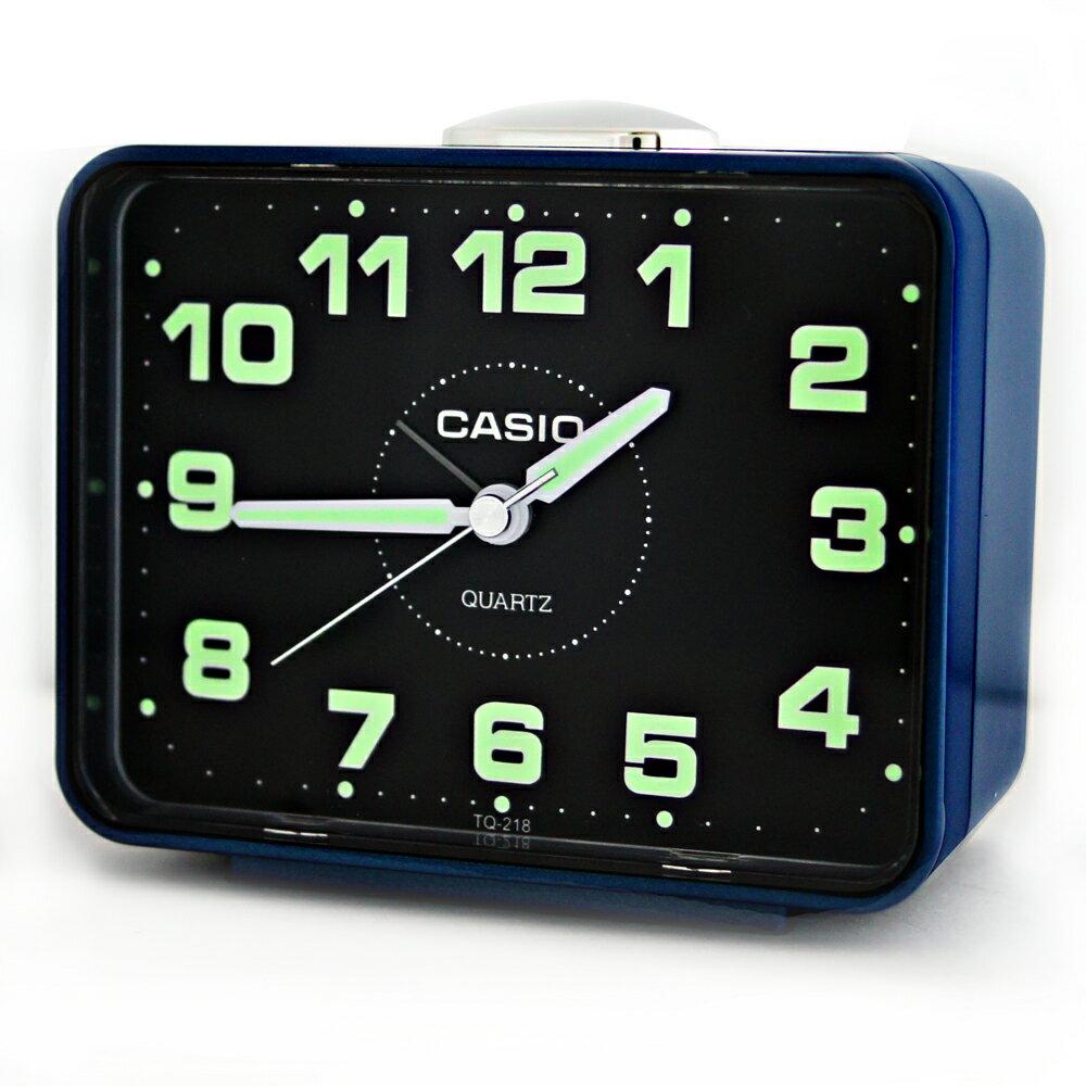CASIO 卡西歐 TQ-218 簡約生活夜光桌上方型貪睡鬧鐘 0