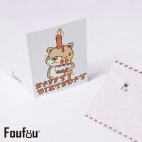 教師節禮物推薦到《Foufou》萬用卡片Card-蠟燭熊Happy Birthday